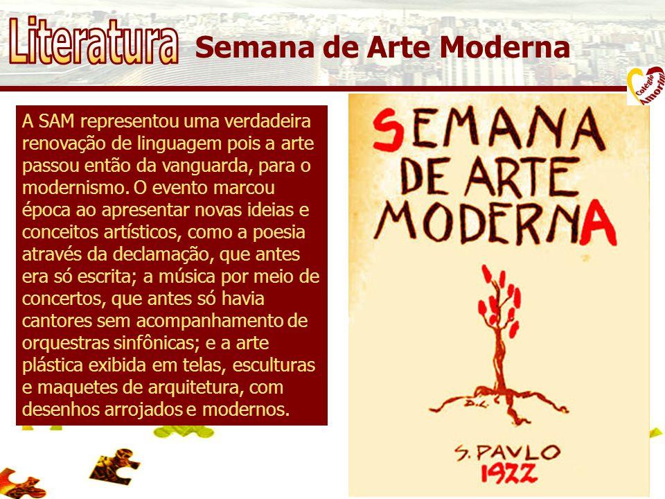 A SAM representou uma verdadeira renovação de linguagem pois a arte passou então da vanguarda, para o modernismo.