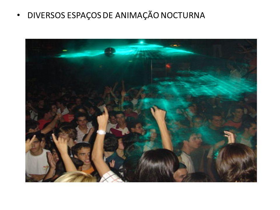 DIVERSOS ESPAÇOS DE ANIMAÇÃO NOCTURNA