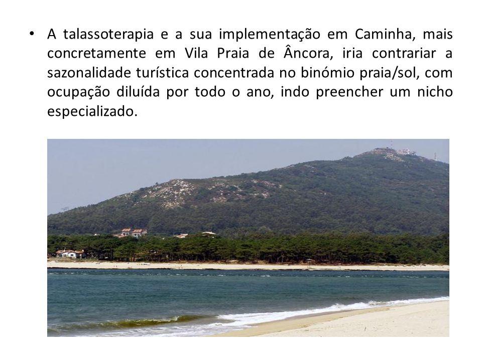 A talassoterapia e a sua implementação em Caminha, mais concretamente em Vila Praia de Âncora, iria contrariar a sazonalidade turística concentrada no