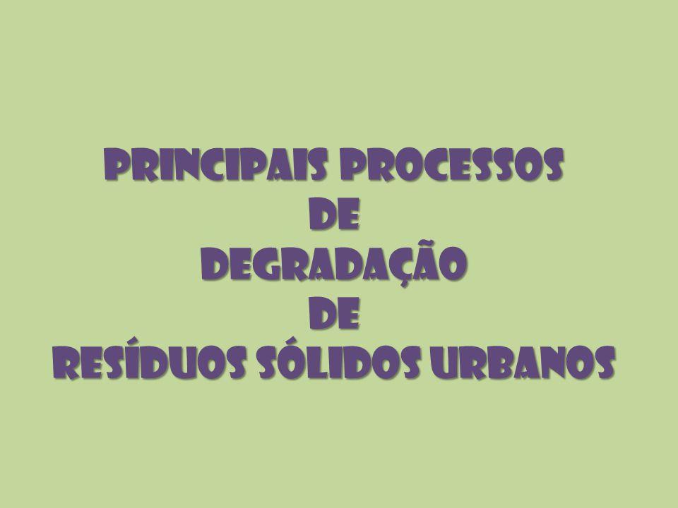 Principais Processos de Degradação de Resíduos Sólidos Urbanos