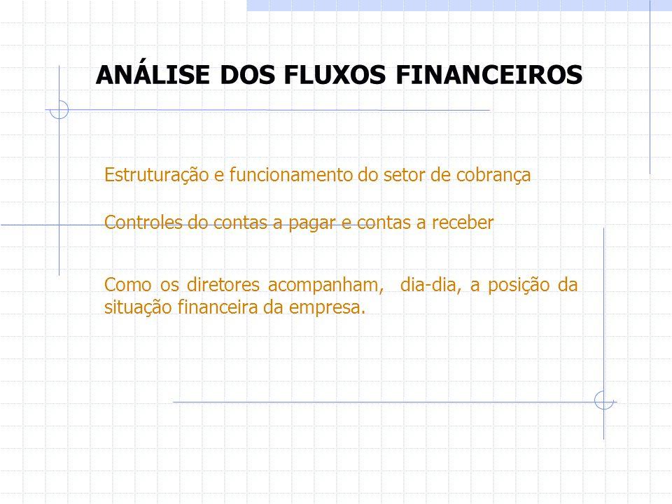 ANÁLISE DAS INFORMAÇÕES CONTÁBEIS Verificar se o plano de contas e o sistema contábil permitem usar a contabilidade como instrumento gerencial.