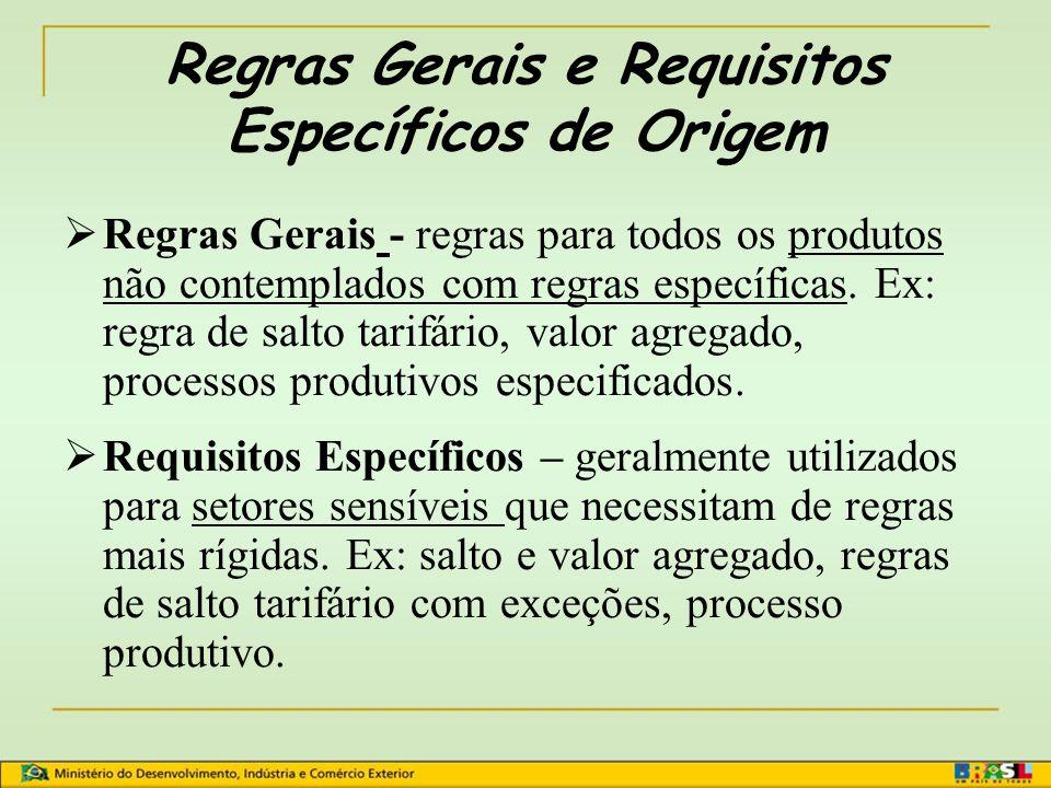 Critério de Transformações Específicas Considera o processo produtivo. Ex: Posição 8473.50.50 – PLACAS (MÓDULOS DE MEMÓRIA) COM UMA SUPERFÍCIE INFERIO