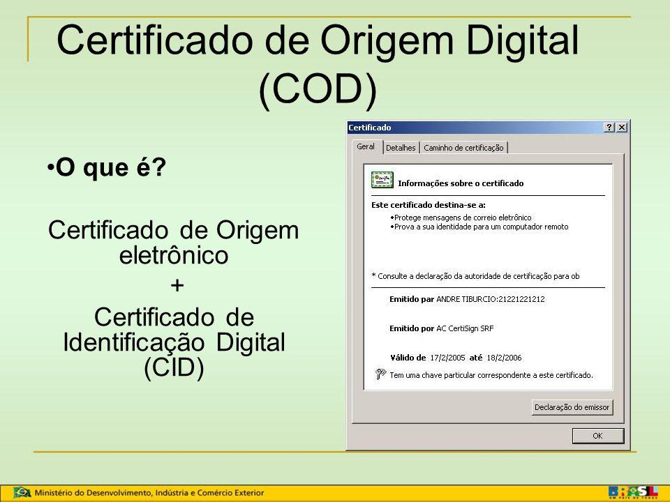 Preenchimento do Certificado de Origem Mercosul Moeda corrente: Real ou Peso Argentino No campo 14, Observações, constar que a transação está em Real