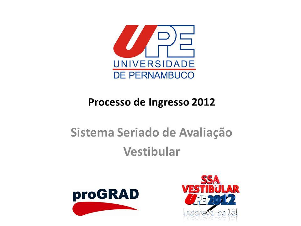 Processo de Ingresso 2012 Sistema Seriado de Avaliação Vestibular
