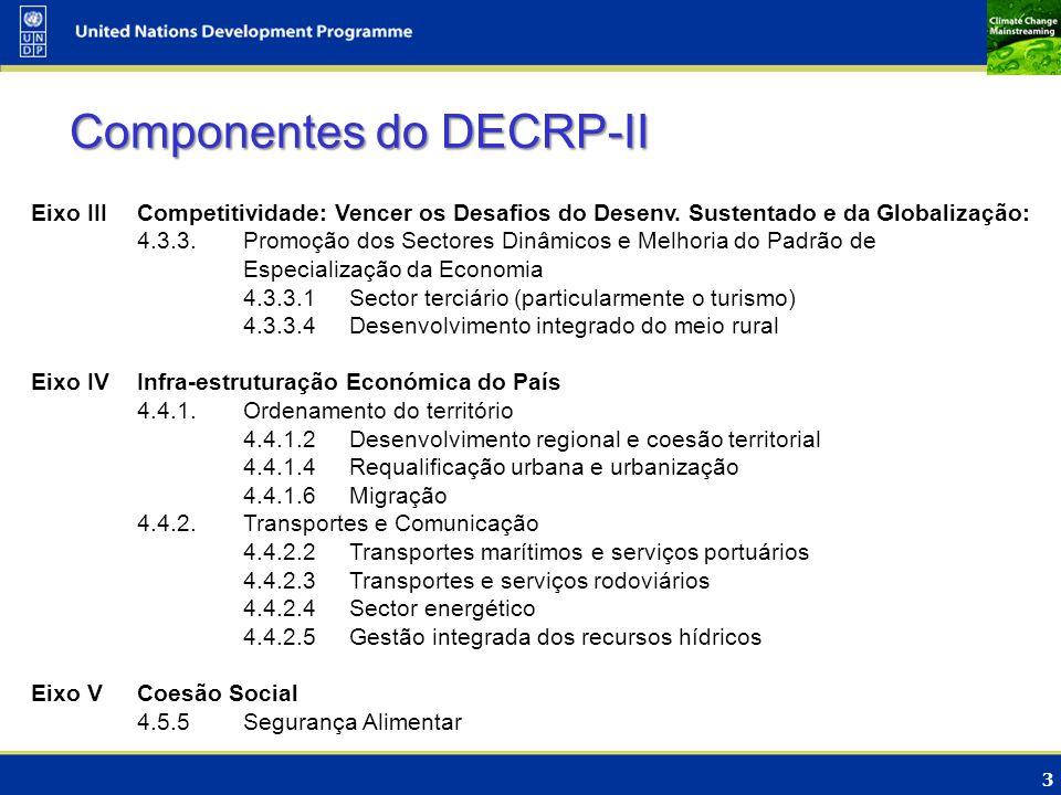3 Eixo III Competitividade: Vencer os Desafios do Desenv. Sustentado e da Globalização: 4.3.3.Promoção dos Sectores Dinâmicos e Melhoria do Padrão de