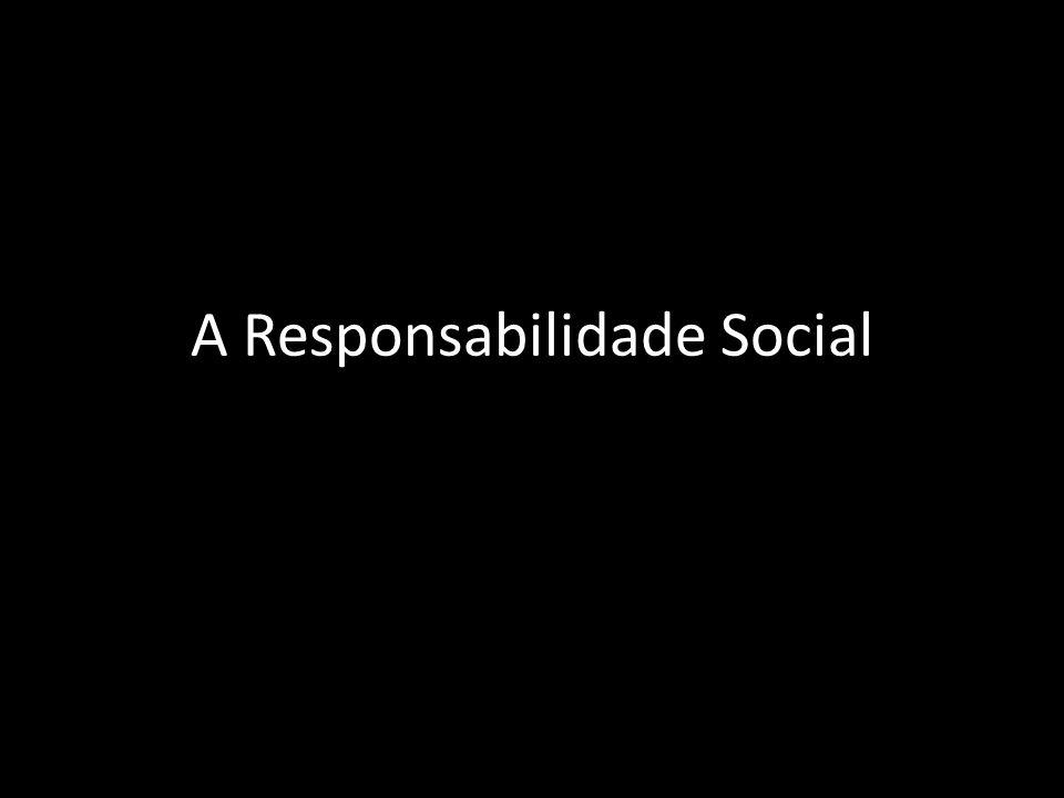 Pirâmide da Responsabilidade Social das empresas Responsabilidade Económica SER LUCRATIVA Responsabilidade Legal OBEDECER À LEI Responsabilidade Ética FAZER O QUE É CERTO Responsa- bilidade Solidária CONTRIBUIR PARA A COMUNI- DADE