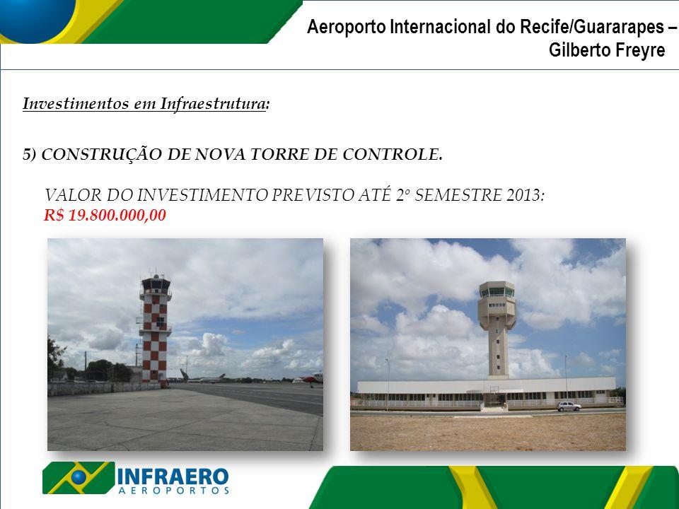 Aeroporto Internacional de Recife/Guararapes – Gilberto Freyre | Investimentos em Infraestrutura: 5) CONSTRUÇÃO DE NOVA TORRE DE CONTROLE. VALOR DO IN