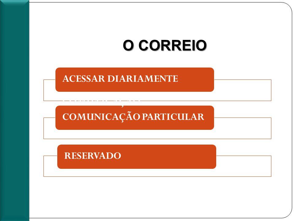O CORREIO ACESSAR DIARIAMENTE COMUNICAÇÃO COMUNICAÇÃO PARTICULARRESERVADO