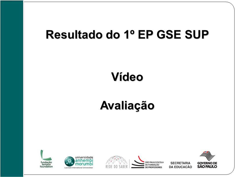 Resultado do 1º EP GSE SUP VídeoAvaliação