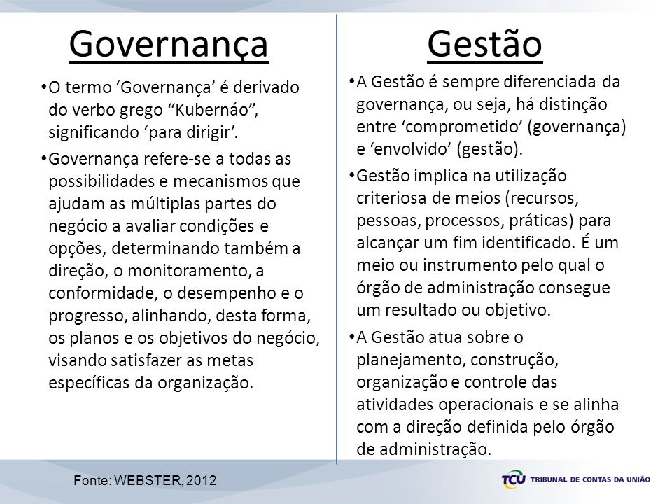 7 Alguns princípios que norteiam as práticas de Governança: – Transparência – Integridade – Prestação de contas (accountability) Princípios da Governança 7 IFAC (2001)