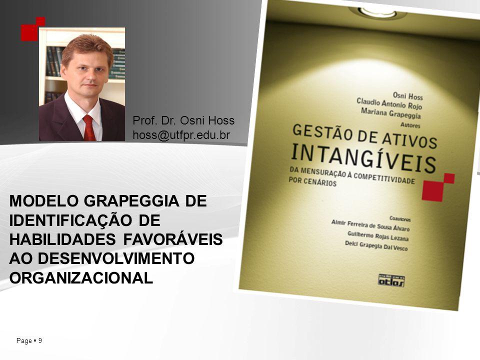 Page 9 Prof. Dr. Osni Hoss hoss@utfpr.edu.br MODELO GRAPEGGIA DE IDENTIFICAÇÃO DE HABILIDADES FAVORÁVEIS AO DESENVOLVIMENTO ORGANIZACIONAL