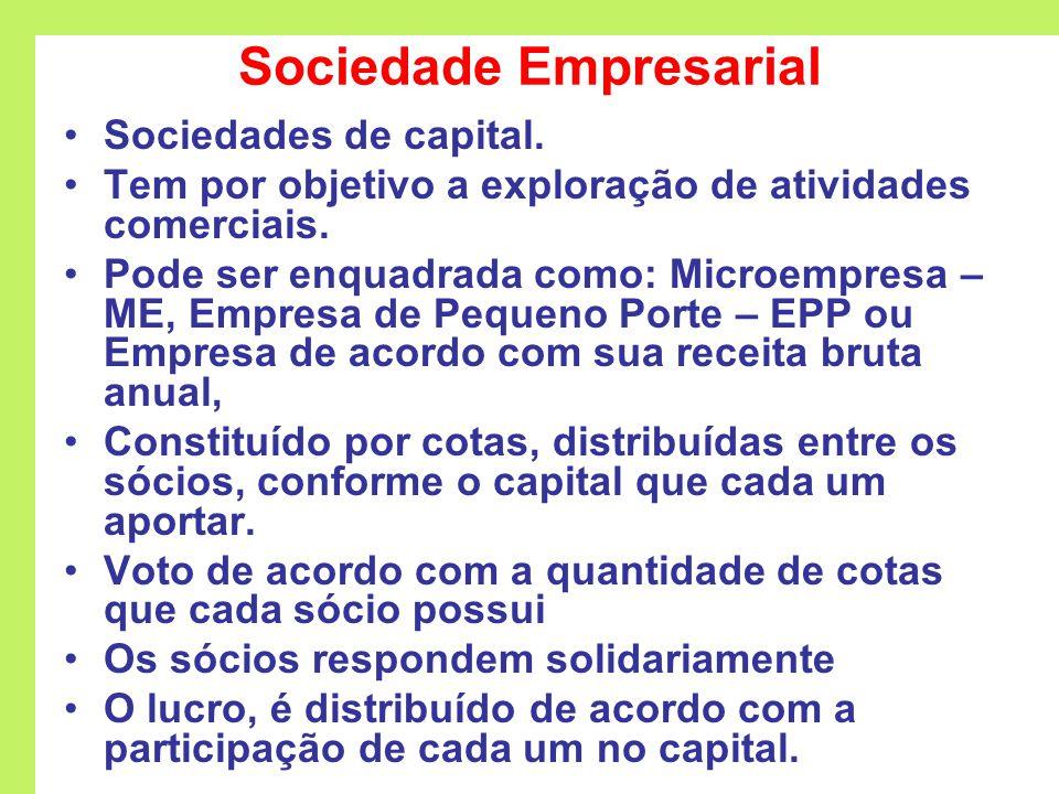 Sociedade Empresarial Sociedades de capital.