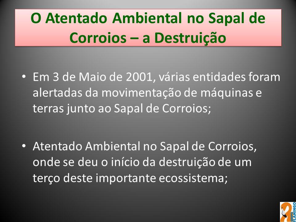 O Atentado Ambiental no Sapal de Corroios – a Destruição Em 3 de Maio de 2001, várias entidades foram alertadas da movimentação de máquinas e terras j