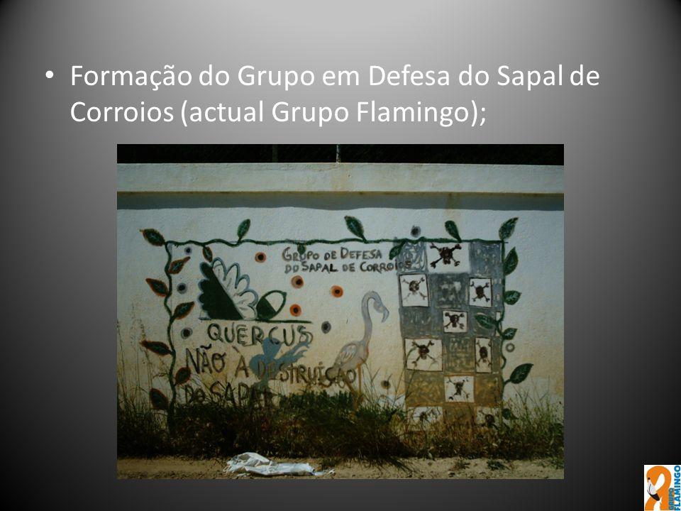 Formação do Grupo em Defesa do Sapal de Corroios (actual Grupo Flamingo);