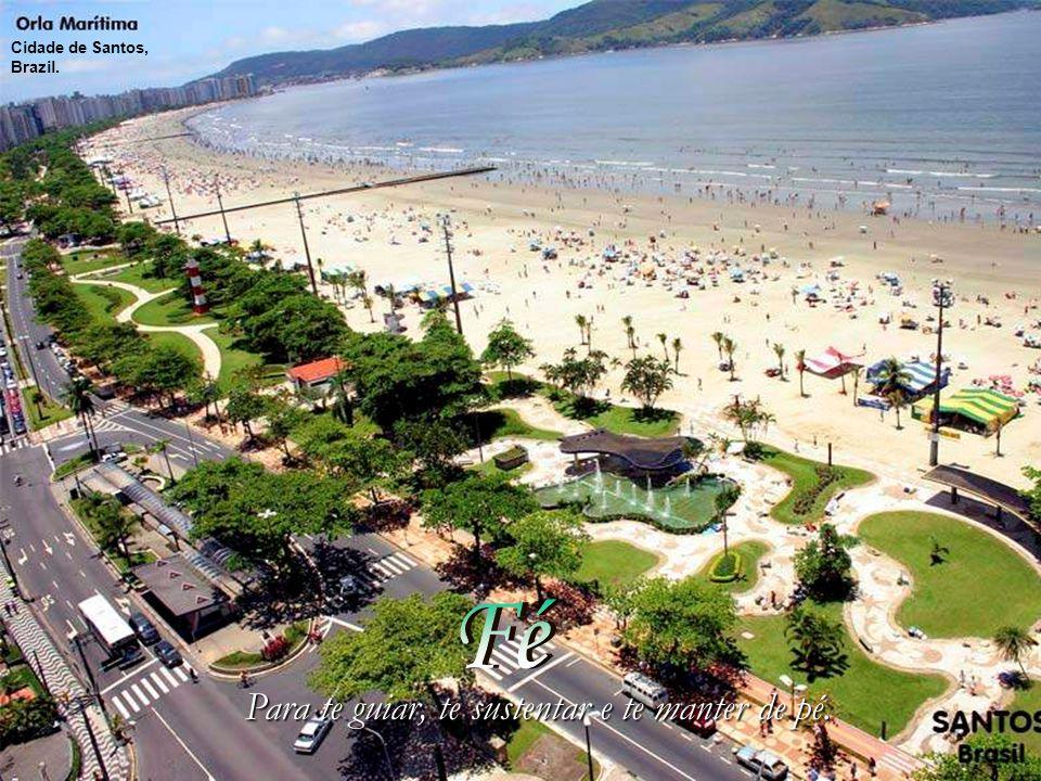 Para te guiar, te sustentar e te manter de pé. Cidade de Santos, Brazil.