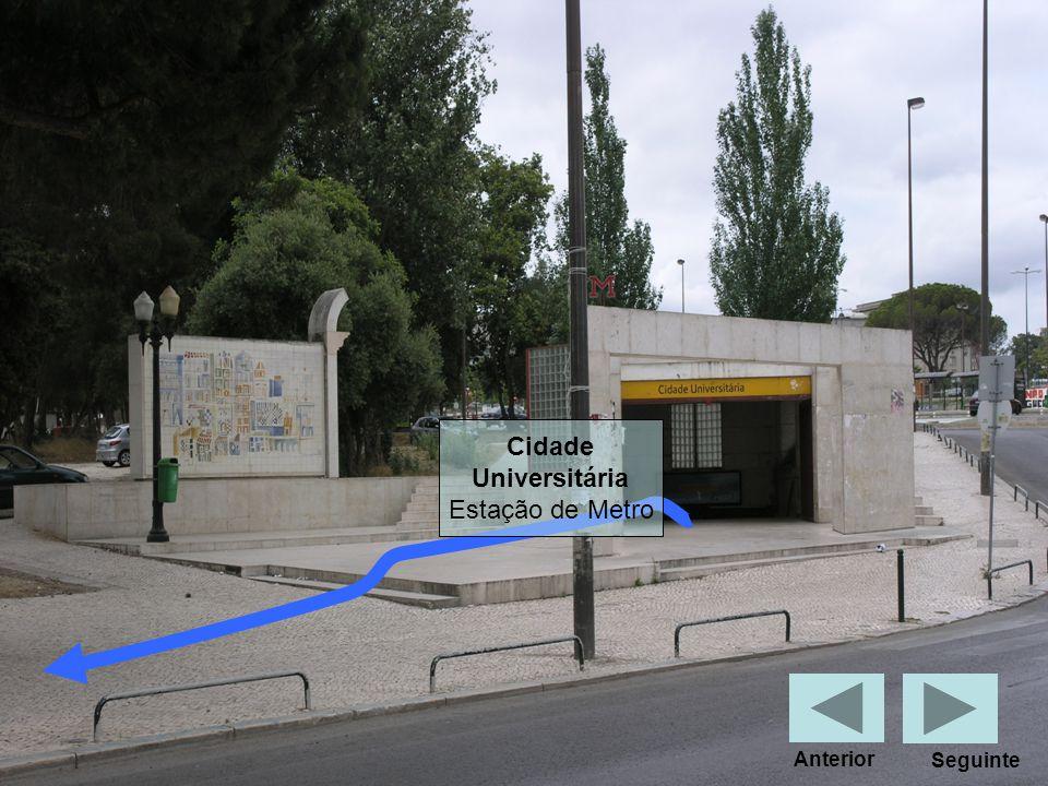 Cidade Universitária Estação de Metro Seguinte Anterior