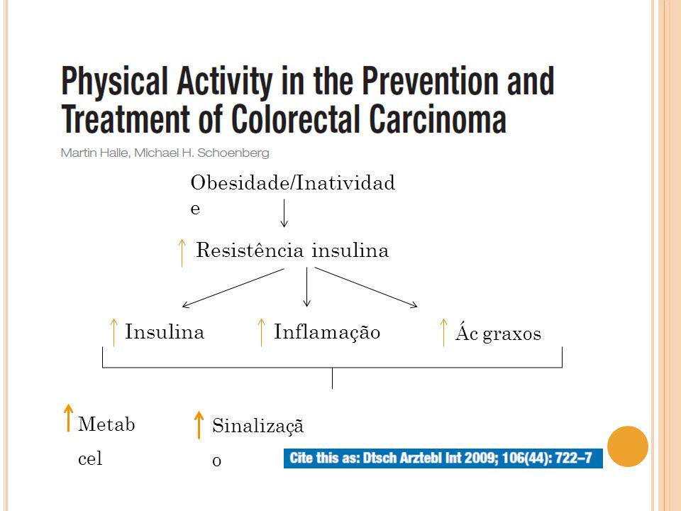Resistência insulina Obesidade/Inatividad e InsulinaInflamação Ác graxos Metab cel Sinalizaçã o