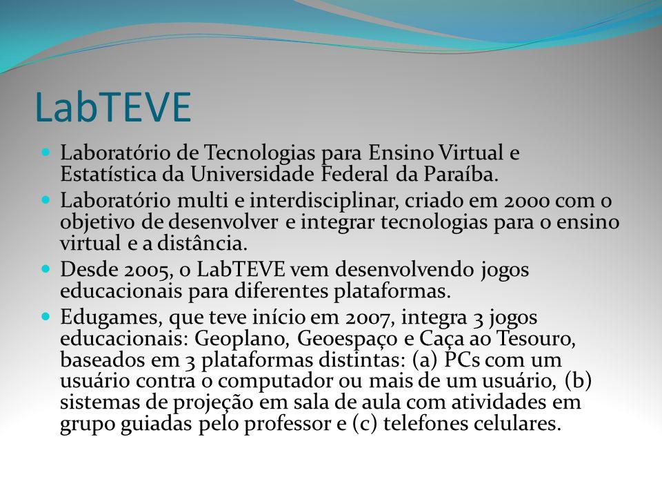 LabTEVE Laboratório de Tecnologias para Ensino Virtual e Estatística da Universidade Federal da Paraíba. Laboratório multi e interdisciplinar, criado