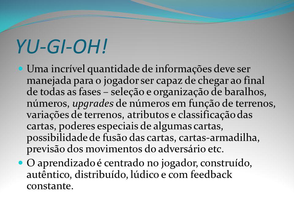 YU-GI-OH! Uma incrível quantidade de informações deve ser manejada para o jogador ser capaz de chegar ao final de todas as fases – seleção e organizaç
