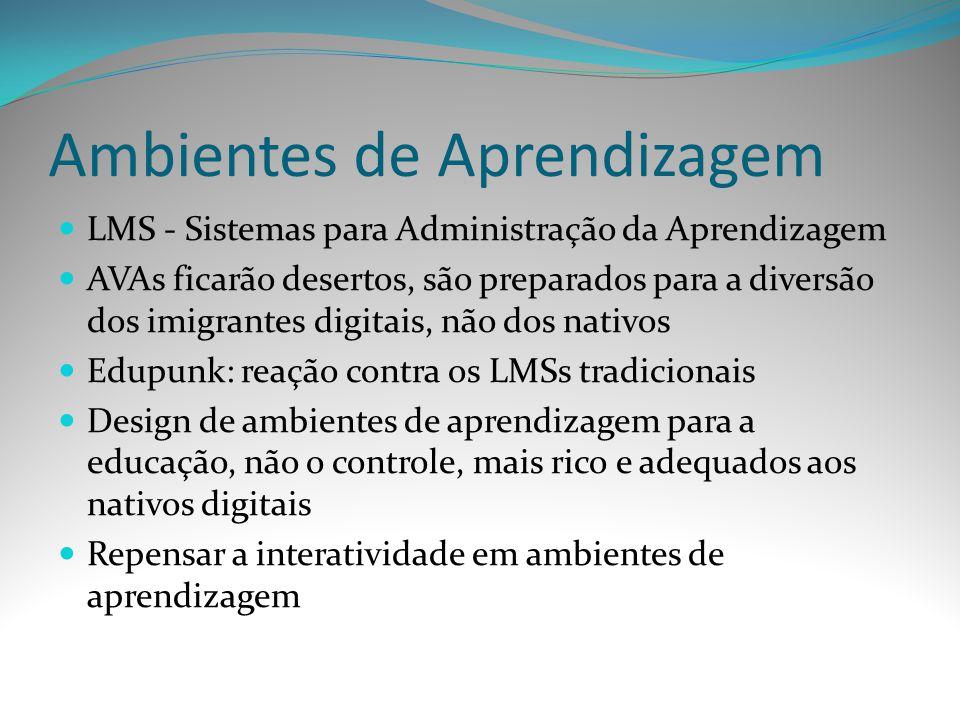 Ambientes de Aprendizagem LMS - Sistemas para Administração da Aprendizagem AVAs ficarão desertos, são preparados para a diversão dos imigrantes digit