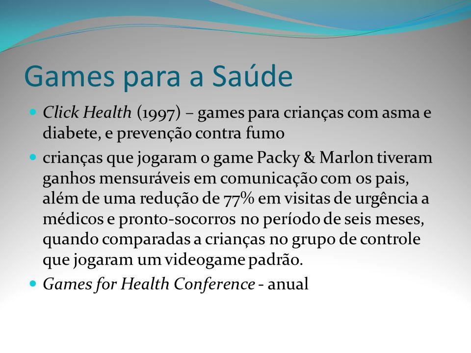 Games para a Saúde Click Health (1997) – games para crianças com asma e diabete, e prevenção contra fumo crianças que jogaram o game Packy & Marlon ti