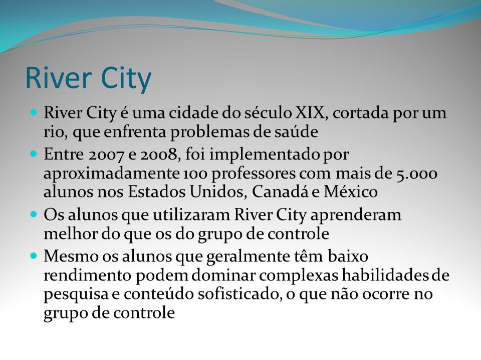 River City River City é uma cidade do século XIX, cortada por um rio, que enfrenta problemas de saúde Entre 2007 e 2008, foi implementado por aproxima