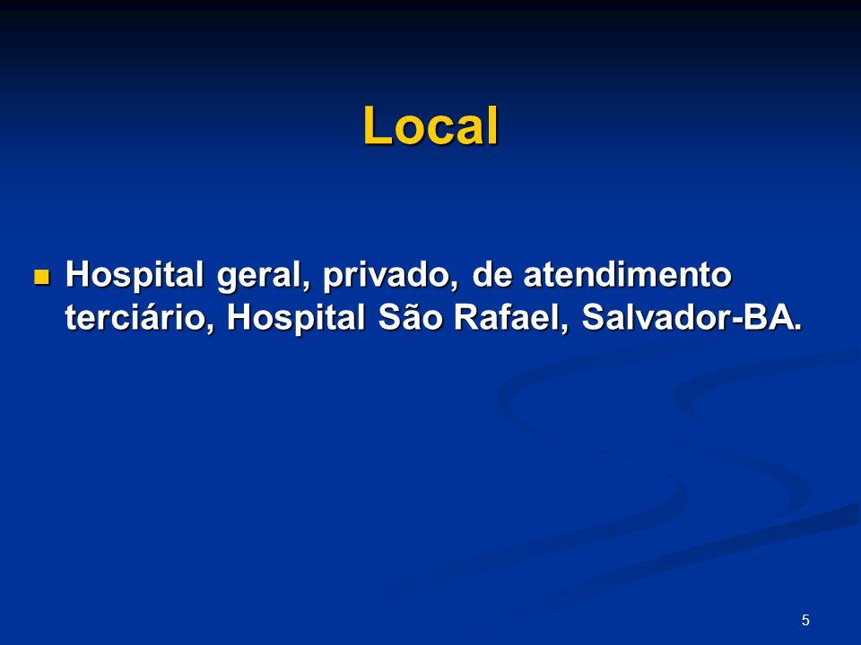 5 Local Hospital geral, privado, de atendimento terciário, Hospital São Rafael, Salvador-BA.