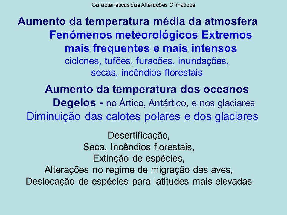Interações Ambientais das Mudanças Sistema Ambienta l Recursos Ambientais UtilizadoresUtilizações -Água -Ar -Solo -Ecossistemas -Homem- Directas/Indirectas Fraca capacidade de renovação AumentoIntensas e diversificadas
