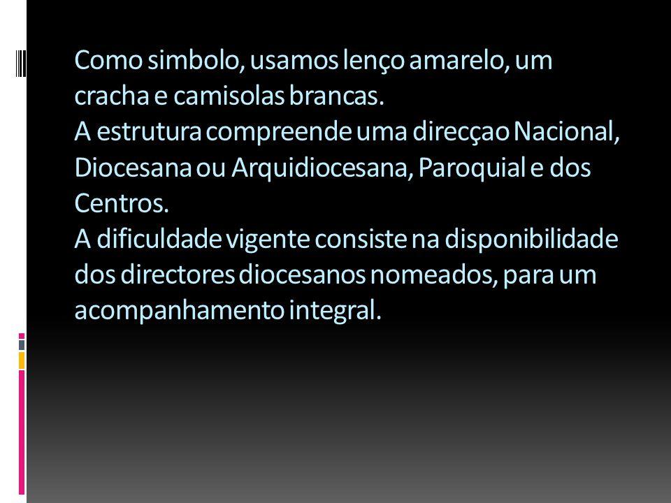 Situaçao actual O MEJ em Angola possui 8.518, divididos pelas dioceses do Huambo (2000), Huila (2000), Benguela (1500), Luanda (500), Caxito (500), Vi