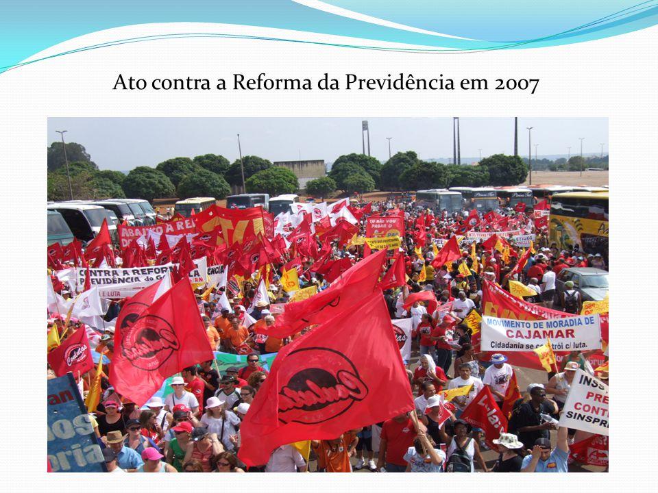 Ato contra a Reforma da Previdência em 2007