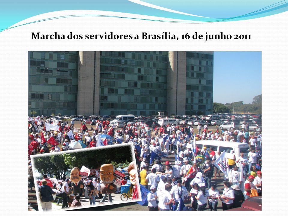 Marcha dos servidores a Brasília, 16 de junho 2011