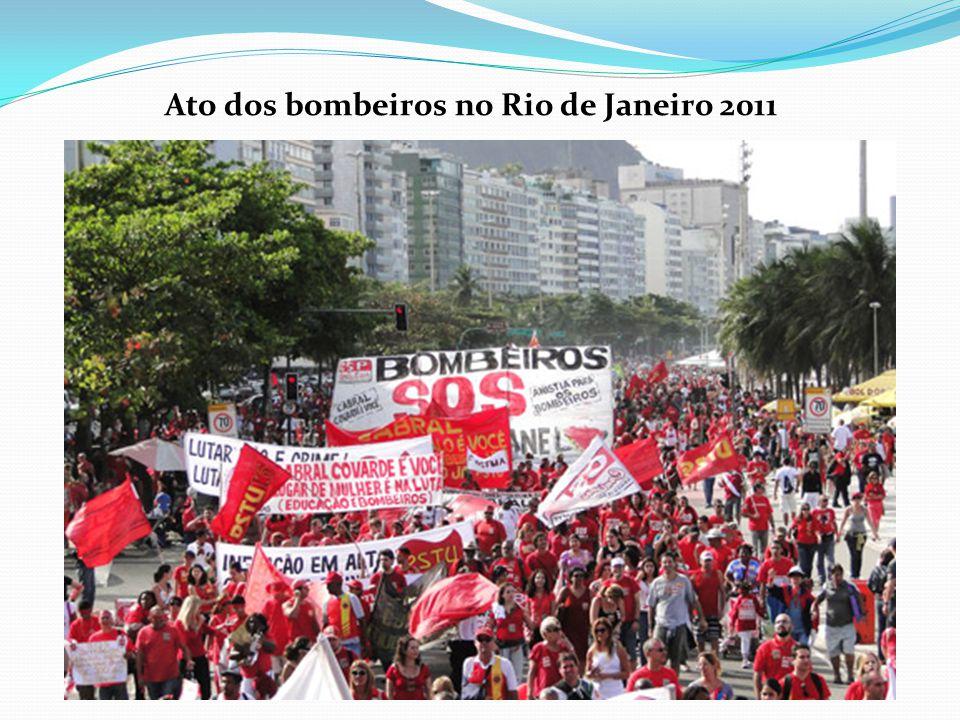 Ato dos bombeiros no Rio de Janeiro 2011