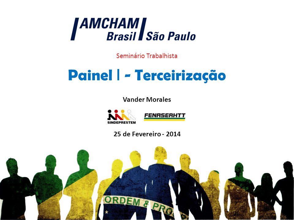 Seminário Trabalhista 25 de Fevereiro - 2014 Painel I - Terceirização Vander Morales