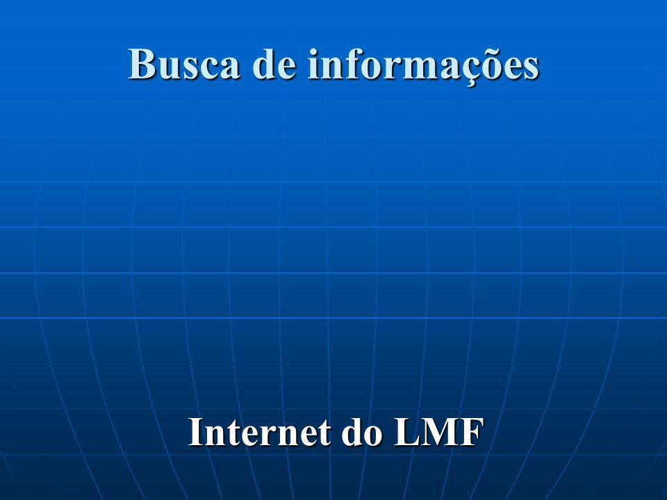 Busca de informações Internet do LMF