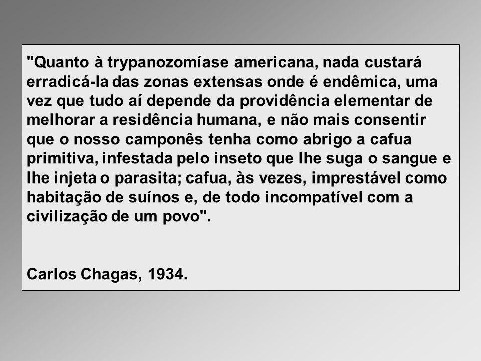 Doença de Chagas Etiologia Trypanosoma cruzi (Chagas, 1909):