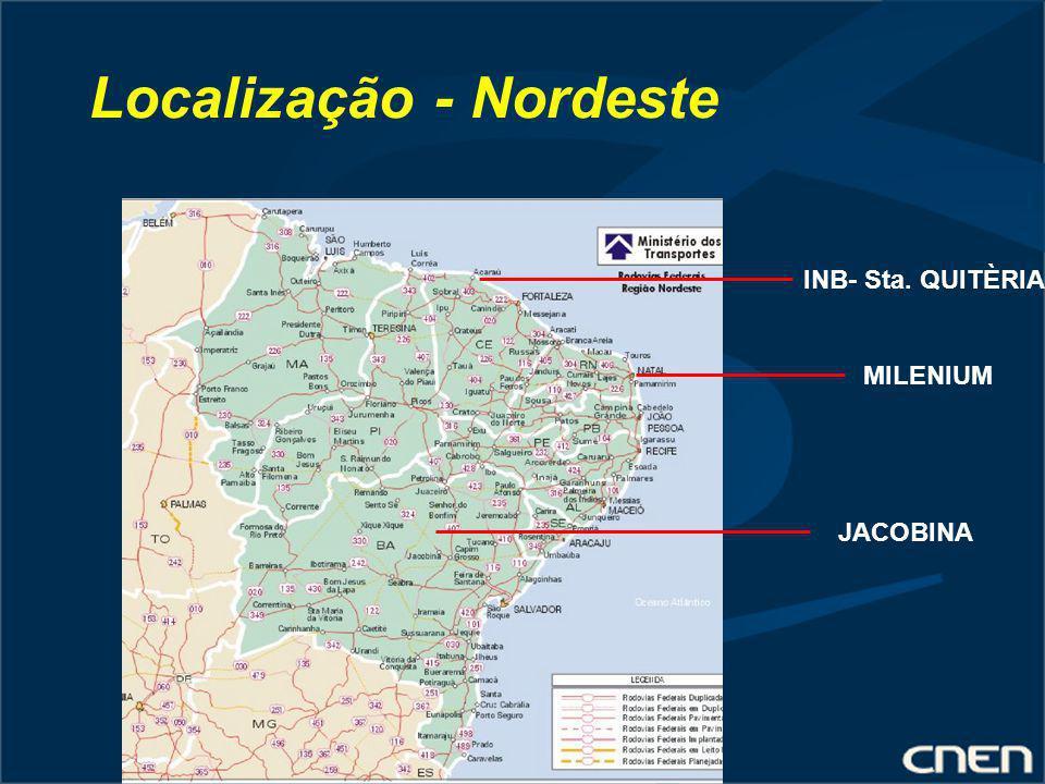 Localização - Nordeste INB- Sta. QUITÈRIA MILENIUM JACOBINA