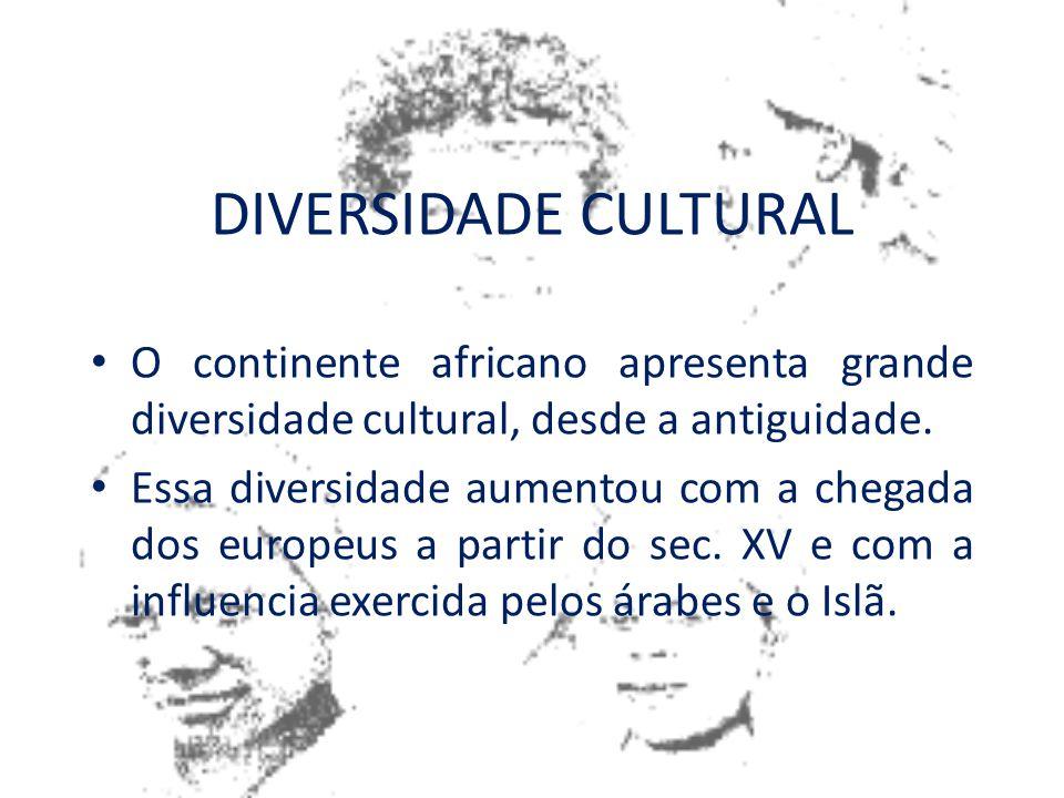 DIVERSIDADE CULTURAL Pode ser entendida como uma construção histórica, cultural e social (inclusive econômica) das diferenças; Ela é construída no pro