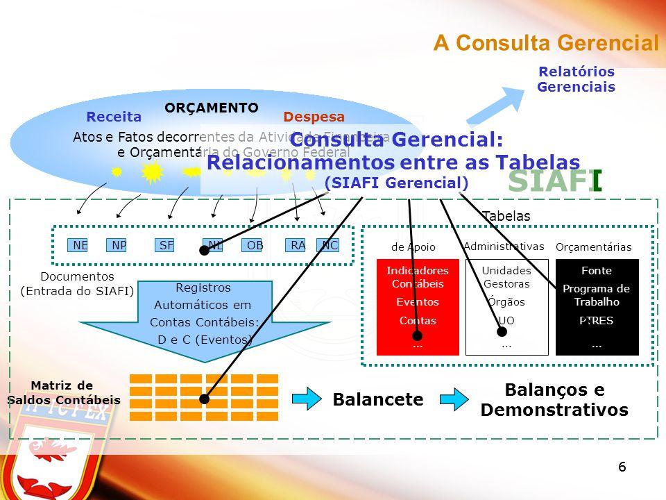 ITEM DE INFORMAÇÃO É a unidade conceitual estruturada com base nas Contas Contábeis e em outros itens, associando a eles operadores aritméticos, e utilizado para compor a informação gerencial.