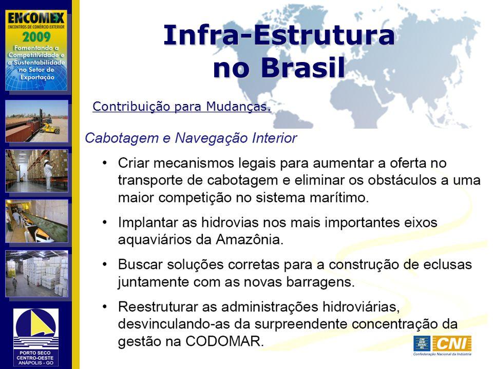 Infra-Estrutura no Brasil Contribuição para Mudanças.