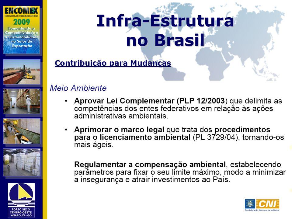 Infra-Estrutura no Brasil Contribuição para Mudanças
