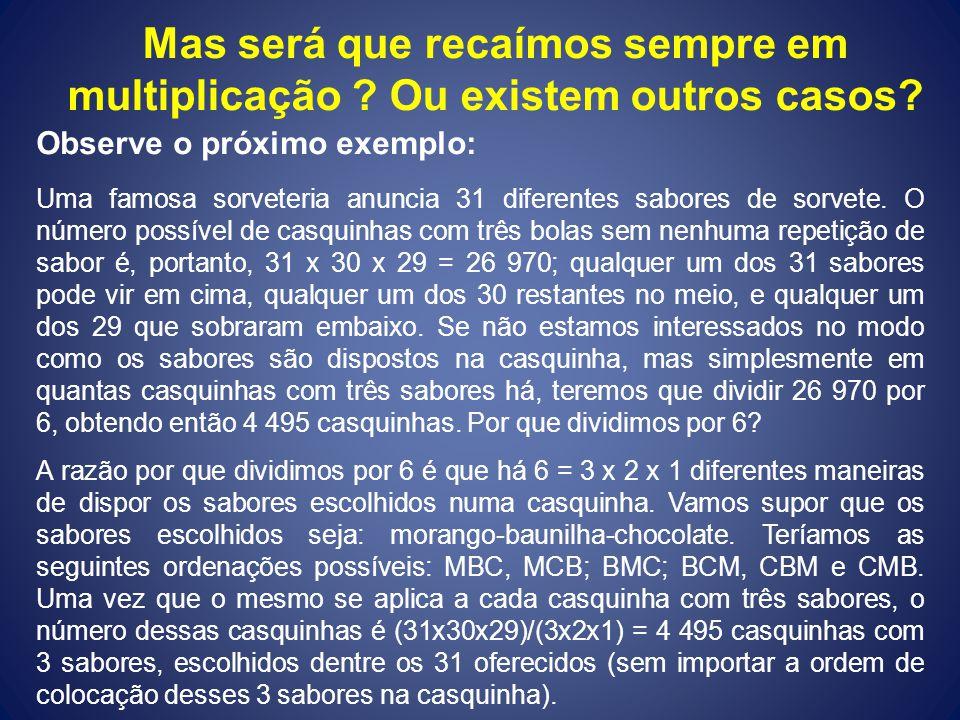 Temas para pesquisa e aprofundamento Teoria dos Grafos Teoria dos Grafos Teoria das Filas Teoria das Filas Probabilidade Condicional – Teorema de Bayes Probabilidade Condicional – Teorema de Bayes Genética e Probabilidades Genética e Probabilidades Loterias Brasileiras e Probabilidade Loterias Brasileiras e Probabilidade Distribuição Binomial em Probabilidade Distribuição Binomial em Probabilidade Cada grupo de duas ou três pessoas deverá escolher um dos temas acima para apresentarem na próxima aula.