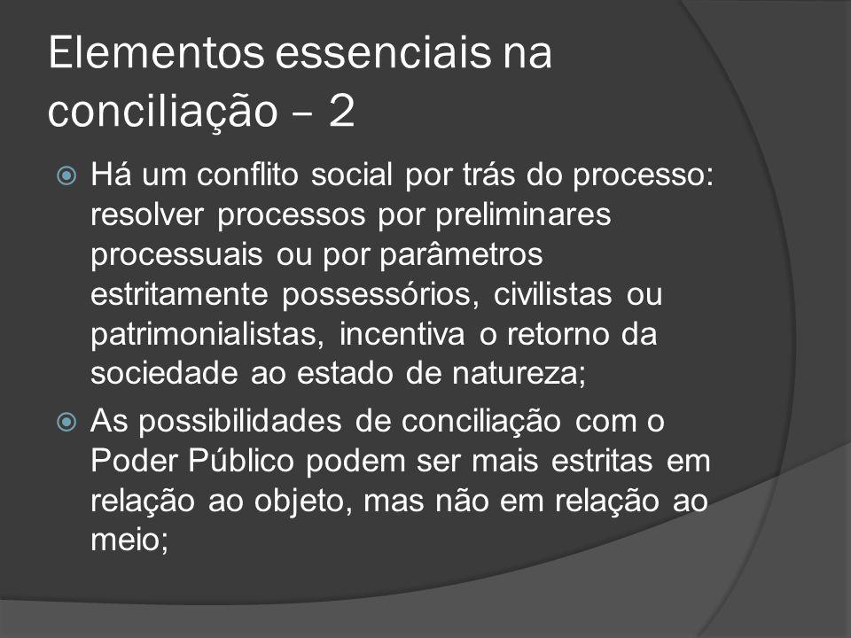 Elementos essenciais na conciliação – 2 Há um conflito social por trás do processo: resolver processos por preliminares processuais ou por parâmetros
