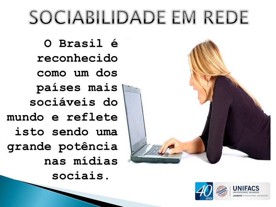 O Brasil é reconhecido como um dos países mais sociáveis do mundo e reflete isto sendo uma grande potência nas mídias sociais.