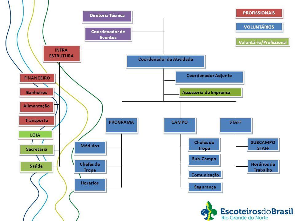 DIRETORIA TÉCNICA Coordenação de Eventos Responsável Geral pela Atividade.