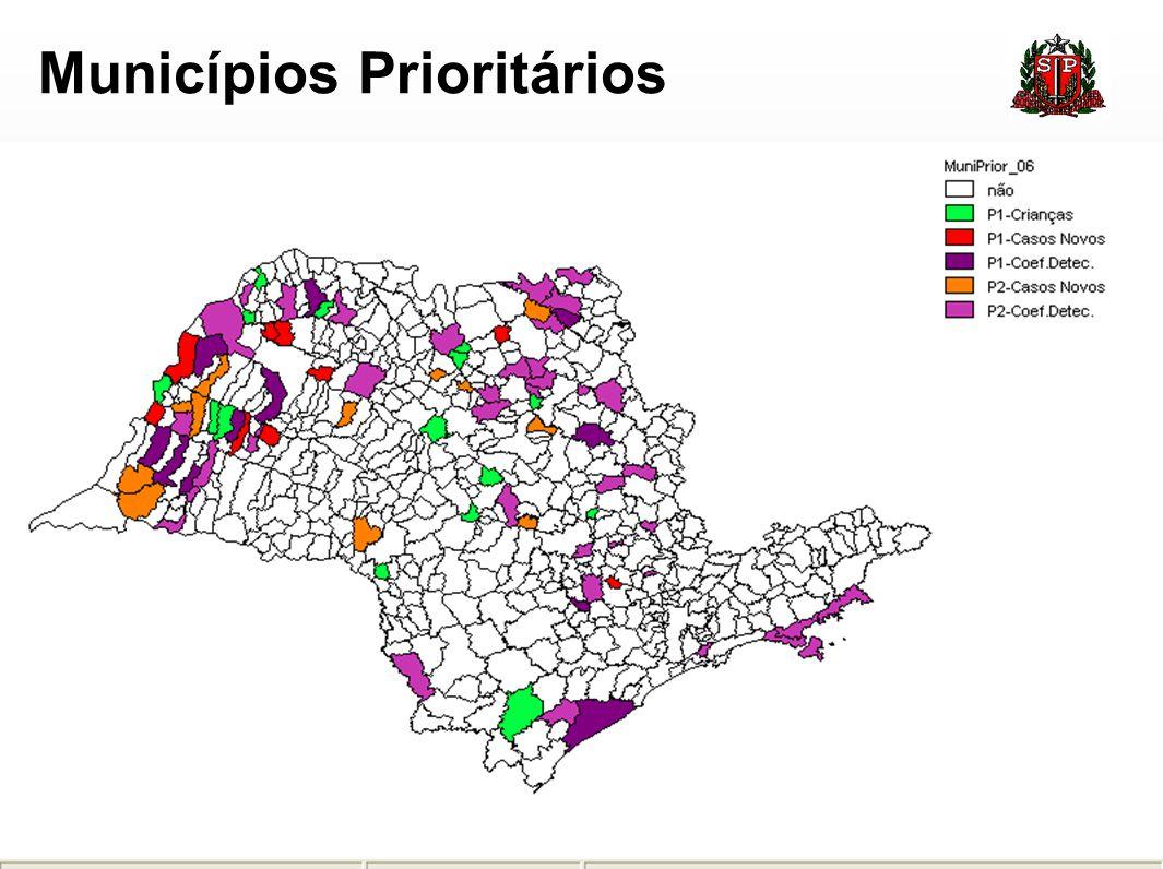 Ações do Programa de Eliminação da Hanseníase distribuídas por Dir,Estado de São Paulo, 2006.