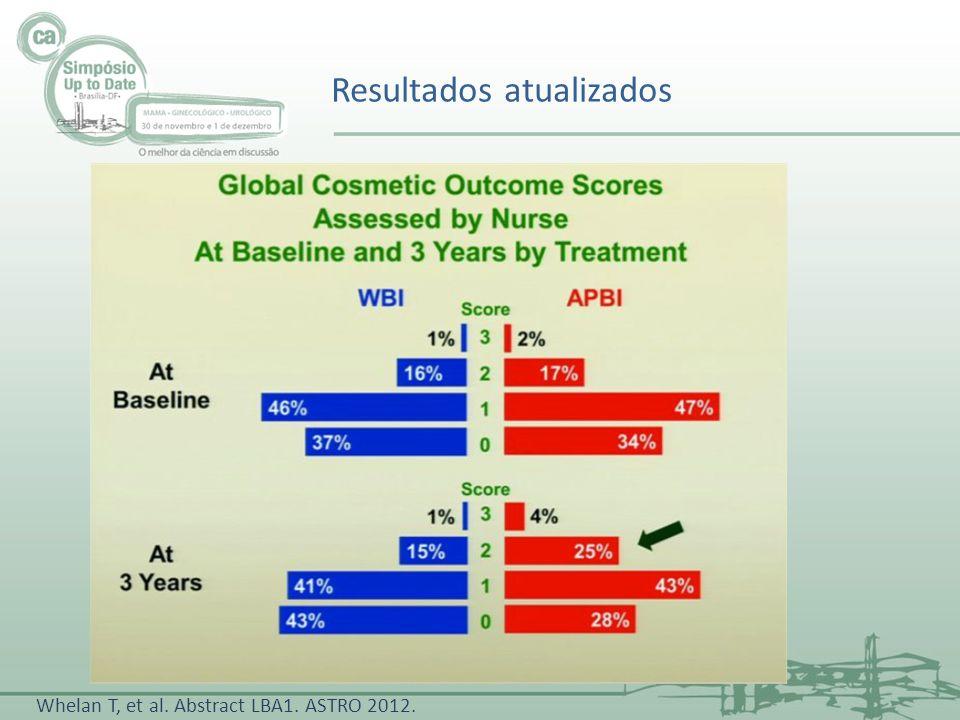 Resultados atualizados Whelan T, et al. Abstract LBA1. ASTRO 2012.