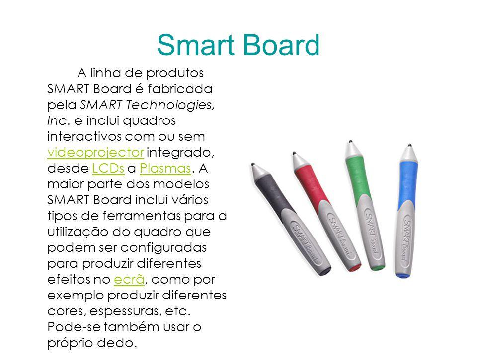 Smart Board A linha de produtos SMART Board é fabricada pela SMART Technologies, Inc.