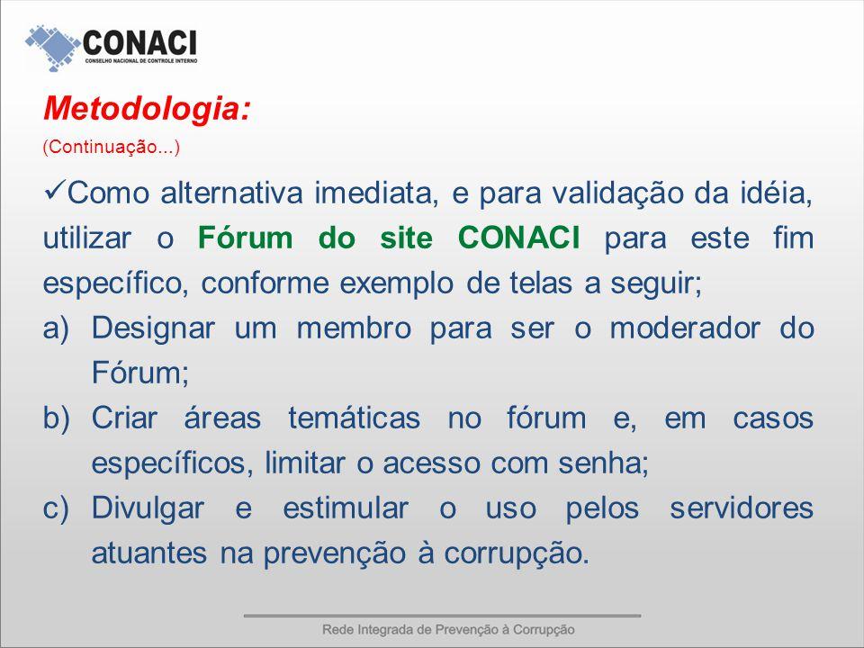 REDE INTEGRADA DE PREVENÇÃO À CORRUPÇÃO Tela 1 – Site do CONACI