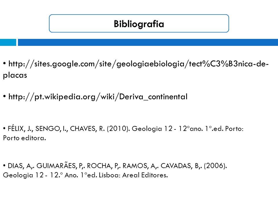 FÉLIX, J., SENGO, I., CHAVES, R.(2010). Geologia 12 - 12ºano.