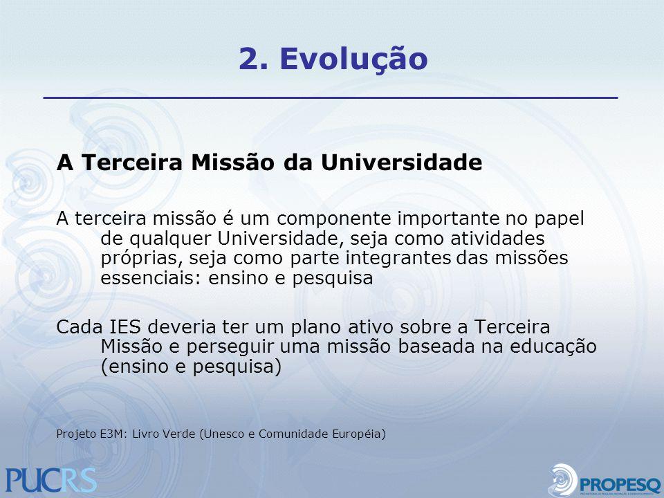 A Terceira Missão da Universidade A terceira missão é um componente importante no papel de qualquer Universidade, seja como atividades próprias, seja